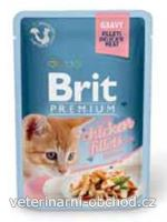 Kočky - krmivo - Brit Premium Cat D Fillets in Gravy for Kitten