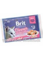 Kočky - krmivo - Brit Premium Cat D Fillets in Jelly Dinner Plate