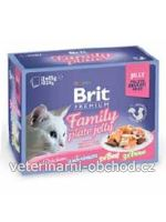 Kočky - krmivo - Brit Premium Cat D Fillets in Jelly Family Plate