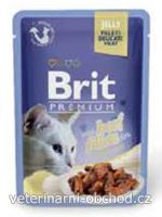 Kočky - krmivo - Brit Premium Cat D Fillets in Jelly with Beef