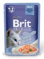 Kočky - krmivo - Brit Premium Cat D Fillets in Jelly with Salmon