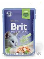 Kočky - krmivo - Brit Premium Cat D Fillets in Jelly with Trout