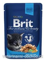 Kočky - krmivo - Brit Premium Cat kapsa Chicken Chunks for Kitten