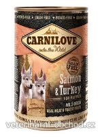 Psi - krmivo - Carnilove Wild konz Meat Salmon & Turkey Puppies