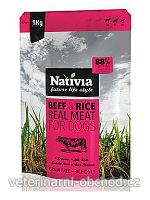 Psi - krmivo - Nativia Real Meat Beef&Rice