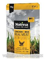 Psi - krmivo - Nativia Real Meat Chicken&Rice